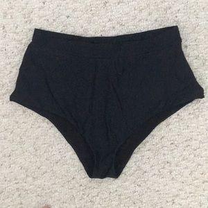 Raisins Swim - Black high waisted bikini bottoms